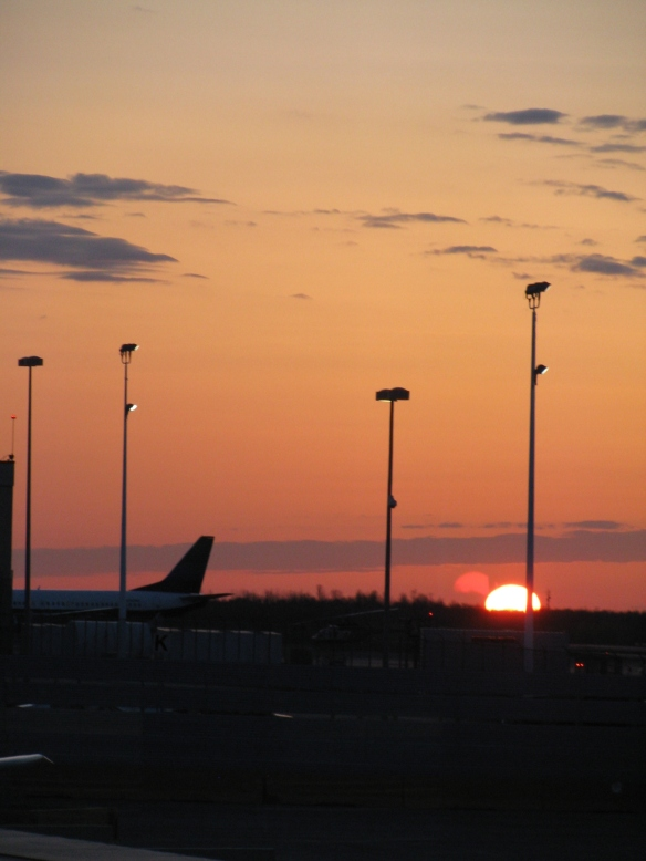 Sunrise in Ottawa Airport